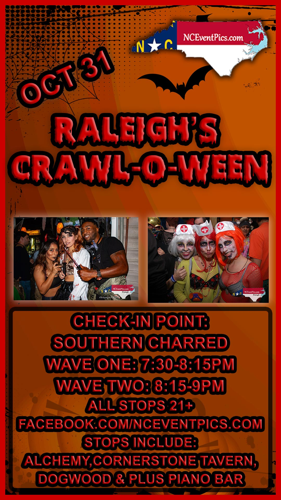 Halloween Pub Crawl Raleigh